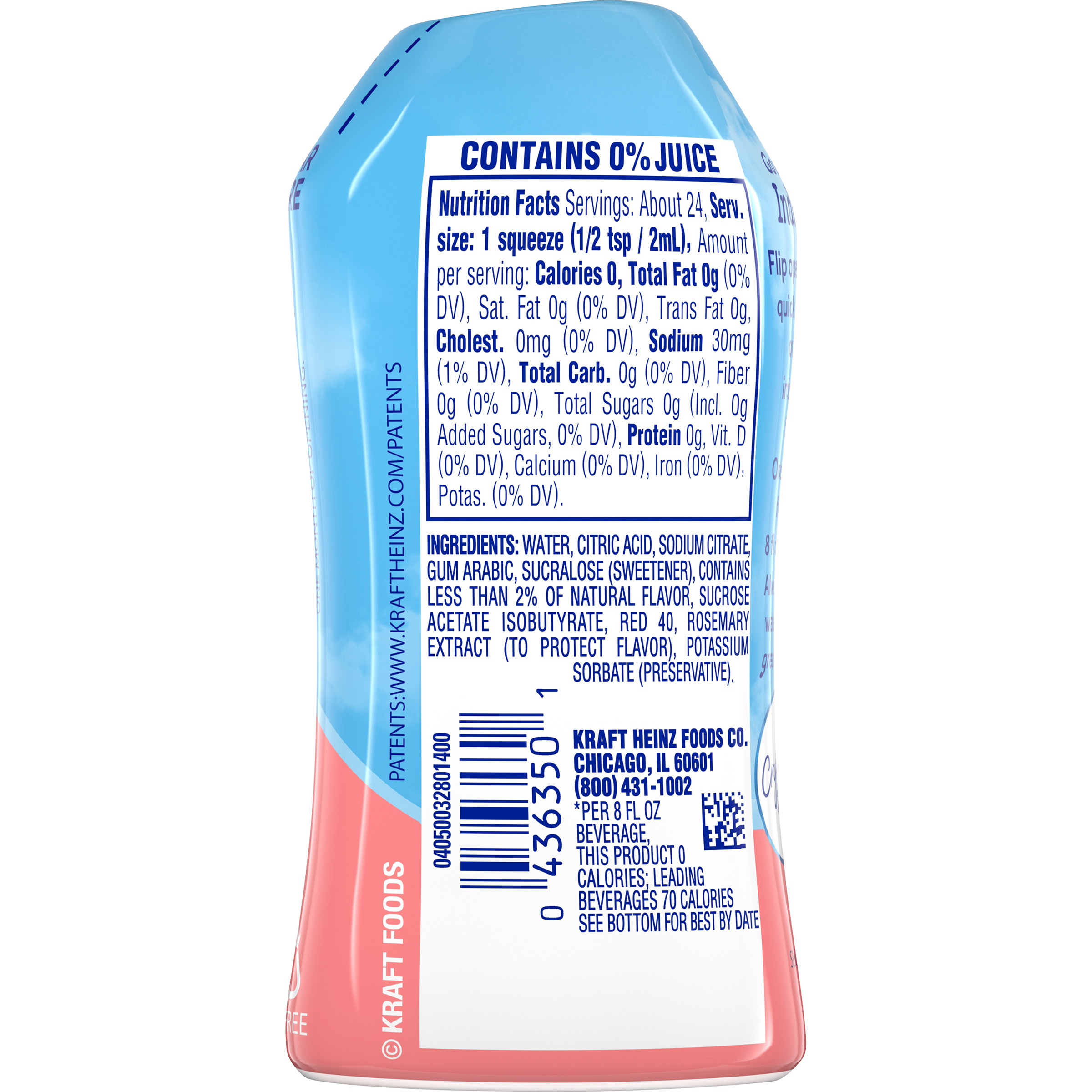 Crystal Light Liquid Strawberry Lemonade Drink Mix 1.62 oz Bottle